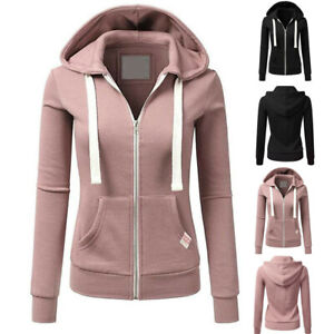 Womens-Regular-Long-Sleeve-Patchwork-Color-Hooded-Zipper-Casual-Sport-Coat-Tops
