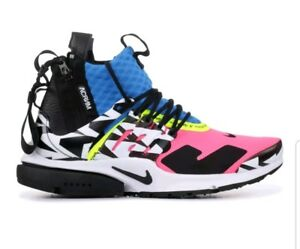 the best attitude 2eba0 882be Image is loading Mens-Nike-x-Acronym-Air-Presto-Mid-Cotton-