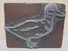 Vintage Duck Letterpress Printing Block Metal Amp Wood