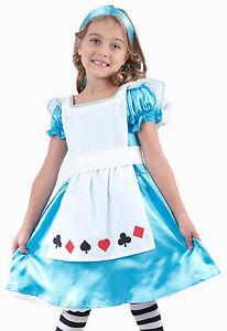 Girls-Child-Kids-ALICE-IN-WONDERLAND-Fancy-Dress-Costume-Fairy-Princess-Age-2-9