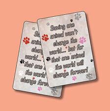 """Fridge Magnet Sku# 590 /""""Saving One Animal/"""" Rescue"""