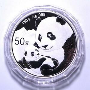 China-2019-Panda-Commemorative-Silver-Coin-150g-50-Yuan-COA