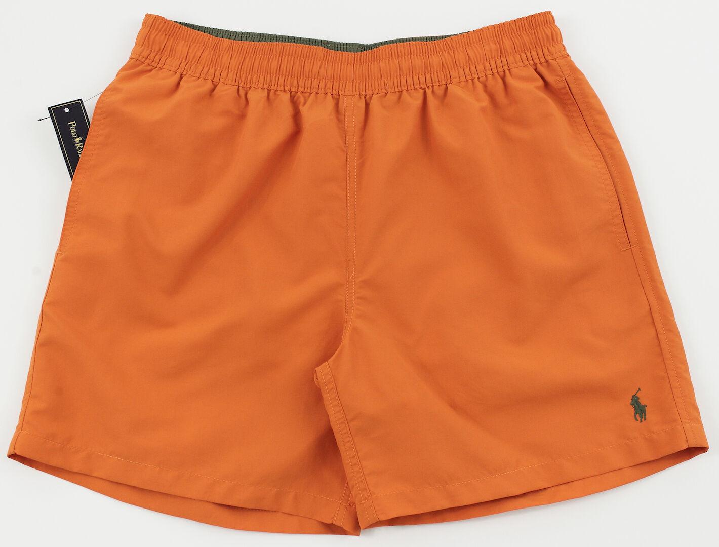 Men's POLO RALPH LAUREN orange Swimsuit Trunks M Medium NWT NEW 4106173 Nice