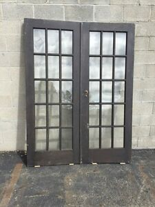 Genial Image Is Loading Cm 18 One Pair Antique French Doors Pine