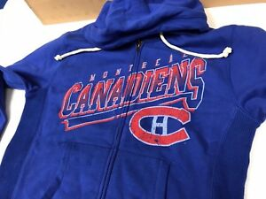 NEW MENS MITCHELL   NESS MONTREAL CANADIENS HOODIE SWEATSHIRT JACKET ... d8e224f8525