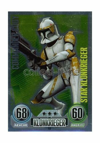 Star-Karte SERIE 1 Klonkrieger COMMANDER CODY 2010 Force Attax 159