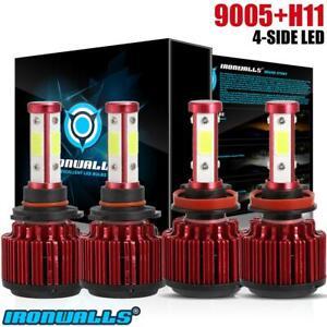 Combo-H11-9005-4-sides-LED-Headlight-3600W-540000LM-Hi-Lo-Beam-Combo-Kit-6000K