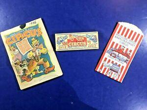 VTG-Circus-Lot-Von-Bros-Ticket-Book-Ringling-Peanut-Bag-Post-Cereal-Comic-Book