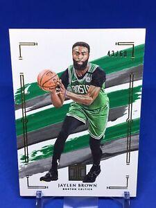2020-21 Impeccable Basketball Jaylen Brown Gold Parallel SP 43/60 Celtics