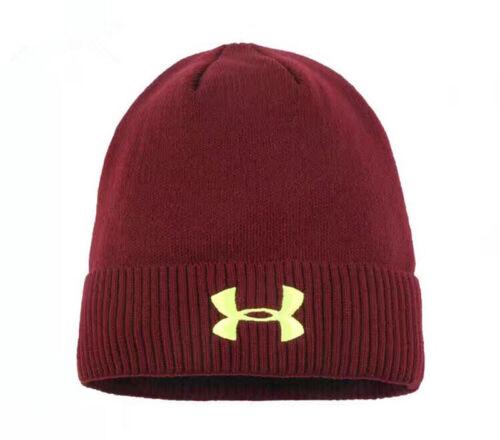 Street Beanie Under Armour Logo Cap Mens Hiking Cuffed Knit Stretch Hat One Size