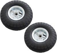 "2 x 10"" Inch Pneumatic Trolley Wheel Cart Barrow Truck Sack Tyre Kart Tire"