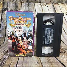 Disney's Sing Along Songs Disneyland Fun Volume Seven VHS Tape Free S/H