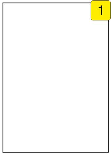 Polystick Folien-Etiketten weiß 210 x 296,8 100 Blatt 100 Stück
