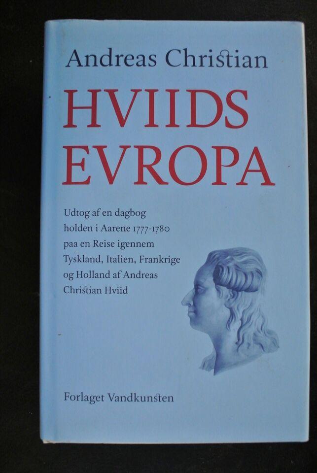 hviids europa, andreas christian hviid, emne: rejsebøger