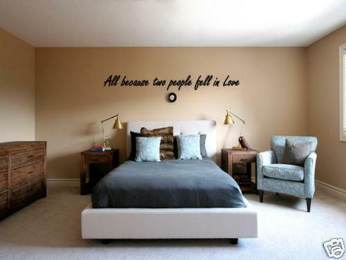 ALL BECAUSE TWO PEOPLE FELL IN LOVE Wall Art Decal 45