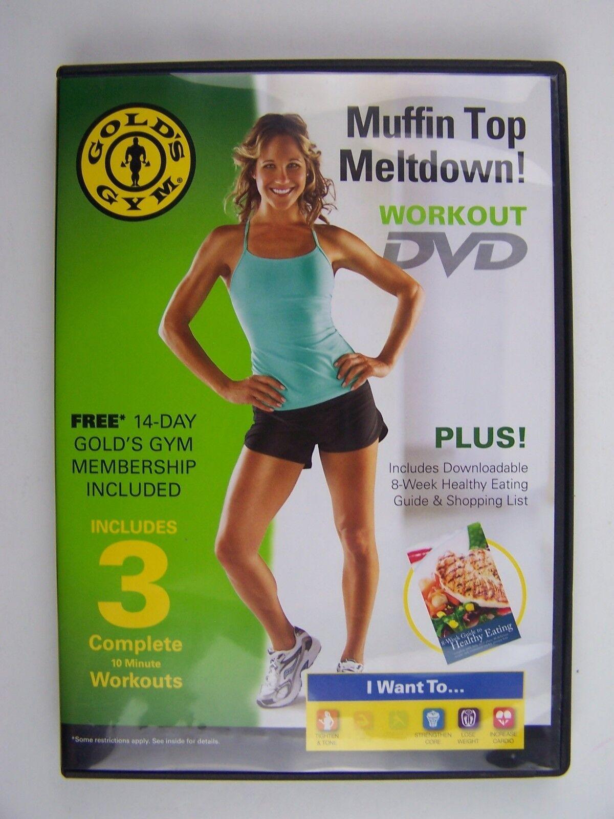 Gold's Gym Muffin Top Meltdown DVD 74345175112