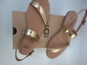 37 Sandals Leather Soft Shoes 4 Cierre Uk venta Ugg de Gold Eu 4qH8ZUUwx