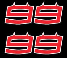 2 AdesivI Stickers 99 JORGE LORENZO Ducati 2017 DUCATI DESMOSEDICI MOTO GP