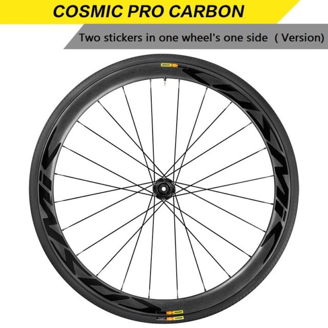 MAVIC COSMIC CARBONE 40 SMALL DECALS  FOR 2 RIMS