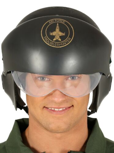 Mens Ladies Aviator Fighter Pilot Air Force TV Film Fancy Dress Costume Helmet