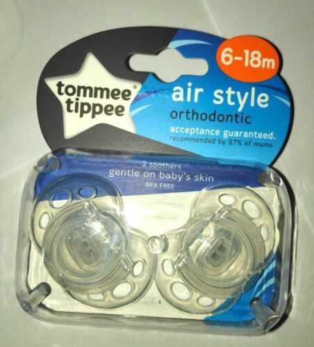 TOMMEE TIPPEE 0-6 m//6-18 M Pack de 2 Orthodontic Bébé Sucettes Tétine BPA free NEW