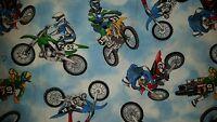 Custom - Motocross Dirt Bike Flying Stunts Sky White Bath Hand Towel Set 2