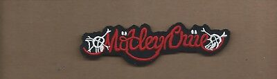 NEW 1 5//8 X 5 INCH MOTLEY CRUE IRON ON PATCH FREE SHIPPING