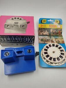 Stereobox-VEB-Kamenzer-Spielwaren-mit-3-Scheiben-Filmen-DDR