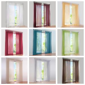 Details zu Vorhänge Gardinen Wohnzimmer Schlaufenschal Fenster Stores Voile  Transparent