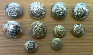 Lot #3. 10 vintage various obsolete police buttons.