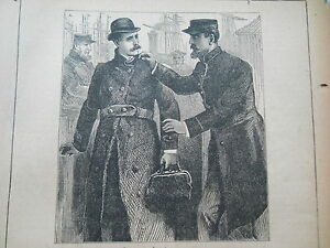 William Drew forger amp gambler  The Forger039s Arrest antique print 1888 amp story - London, Middlesex, United Kingdom - William Drew forger amp gambler  The Forger039s Arrest antique print 1888 amp story - London, Middlesex, United Kingdom
