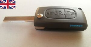 CITROEN-C4-GRAND-PICASSO-3-Button-Light-symbol-Flip-Remote-Key-Fob-Case-Blade