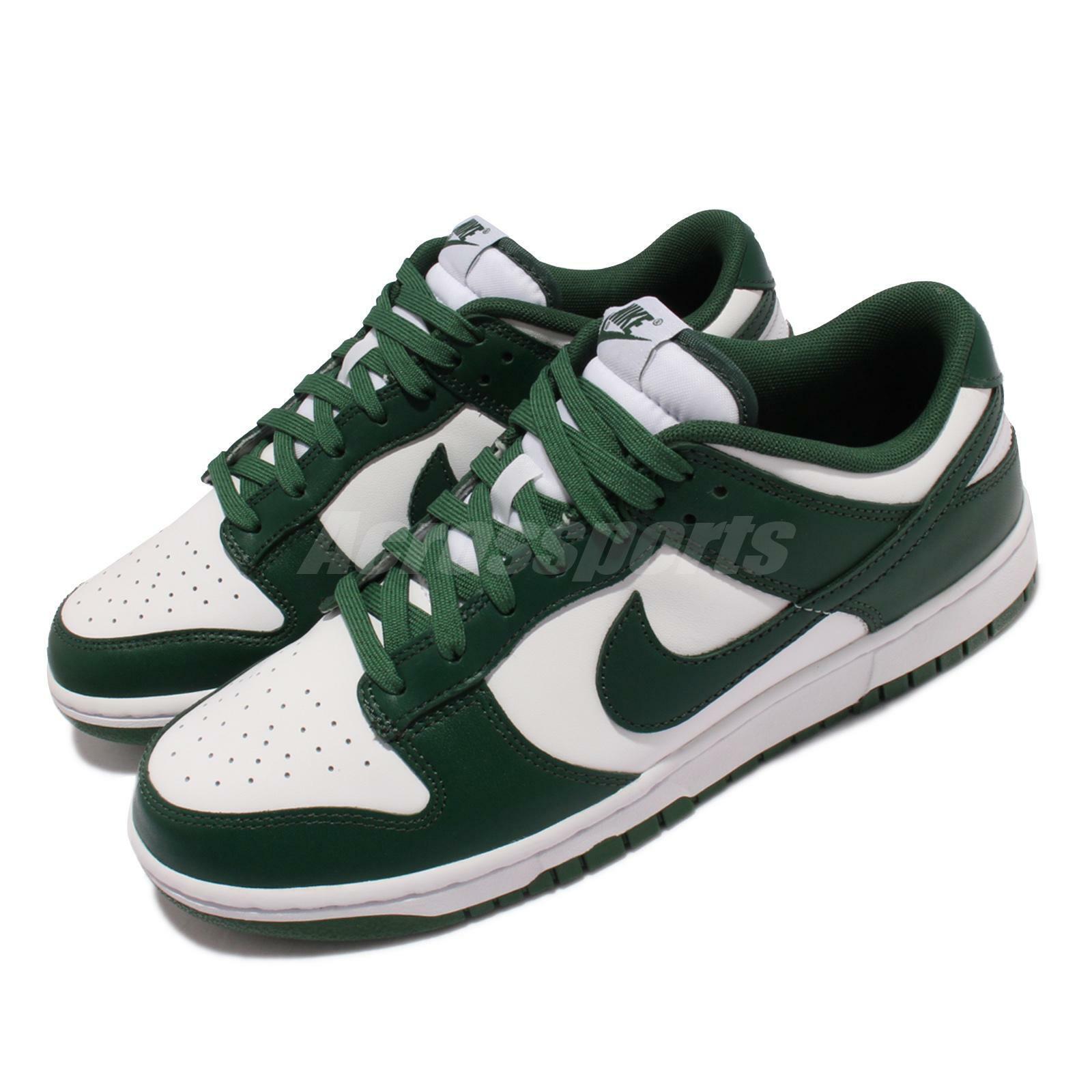 Nike Dunk Low Retro Michigan State Team Green White Men Casual Shoes DD1391-101