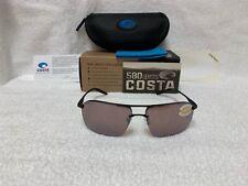 Costa Del Mar Skimmer Sunglasses SKM-11-OSCP Matte BlackCopper Silver 580P