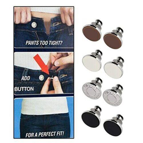 Hosenknöpfe 8 Teile Knopfset Ersatzknopf Hosen Jeans Röcke Druckknopf Jeansknöpf