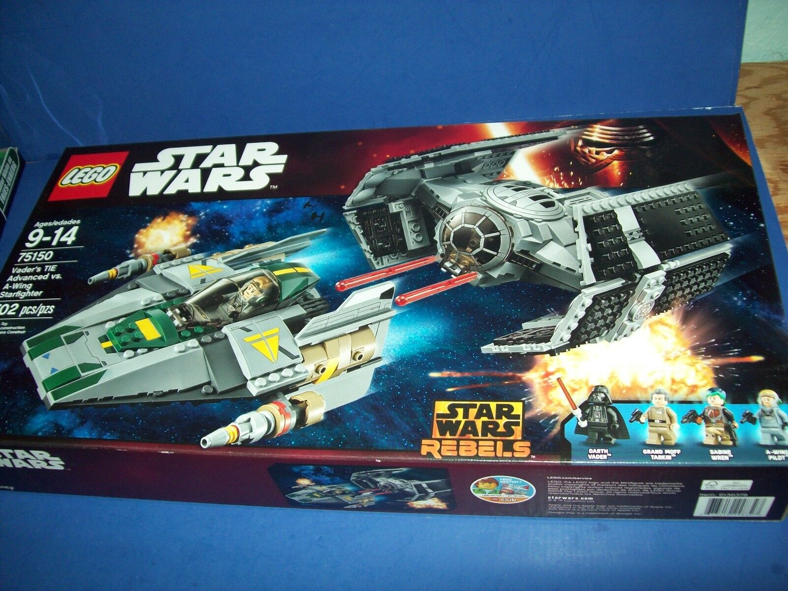 Lego Star Wars rebelles Vader's cravate Advanced vs A-Wing Starfighter 75150 nouveau NEUF