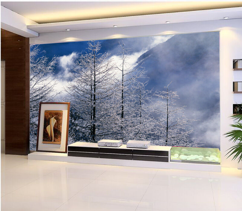 3D snow forest art 2765 Paper Wall Print Decal Wall Wall Murals AJ WALLPAPER GB