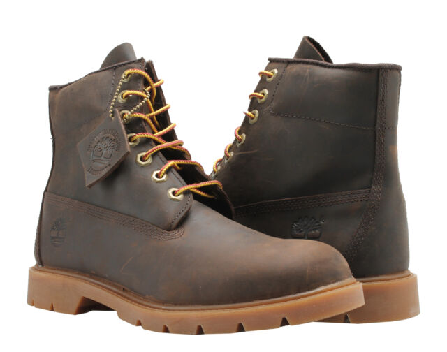 Timberland 6 Inch Basic Waterproof Brown Leather Men's Boots A111Q