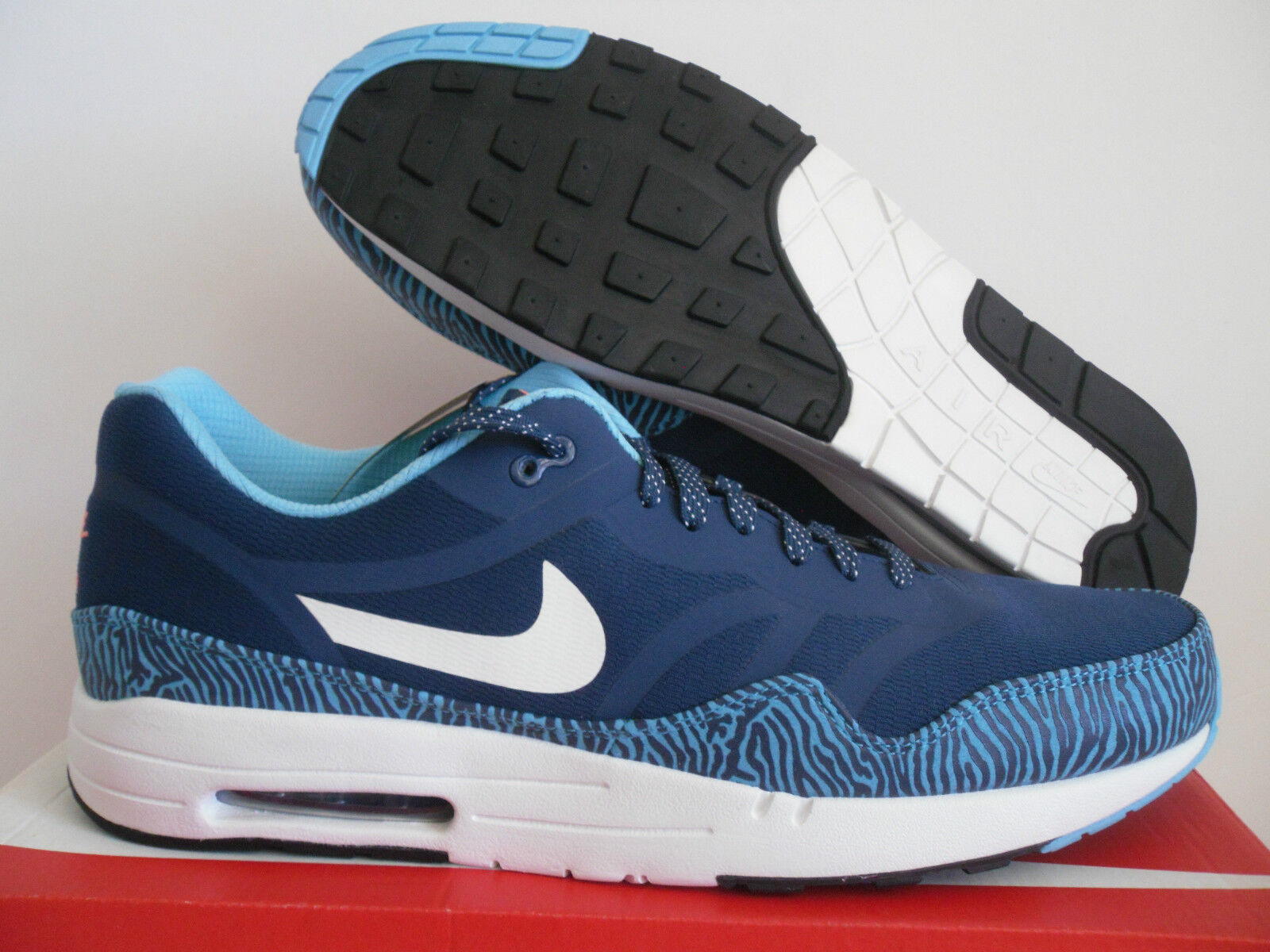 MENS NIKE AIR MAX 1 PREMIUM TAPE BLUE-WHITE-BLACK SZ 13 [599514-410]