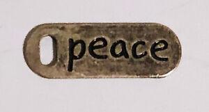 Vintage-1960-039-s-Metal-Peace-Pendant-Original-Hippie-Era-Retro