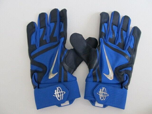2ae971eb61b9 Nike Huarache Elite Batting Gloves Game Royal college Navy chrome Large for  sale online