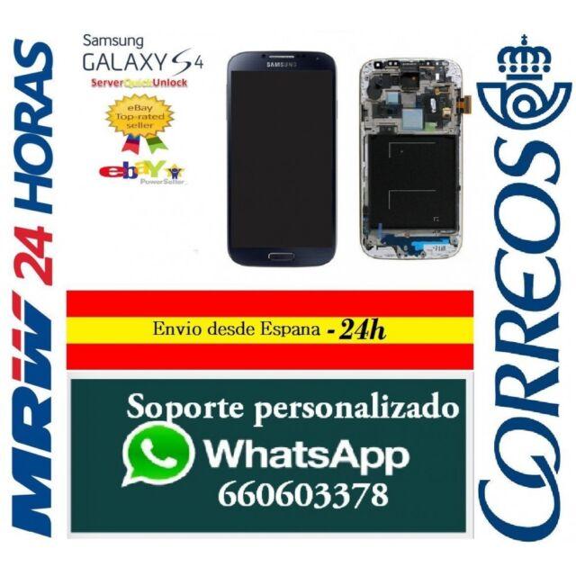 Pantalla Original Completa con Marco para Samsung Galaxy S4 GT-I9505 Azul Oscuro