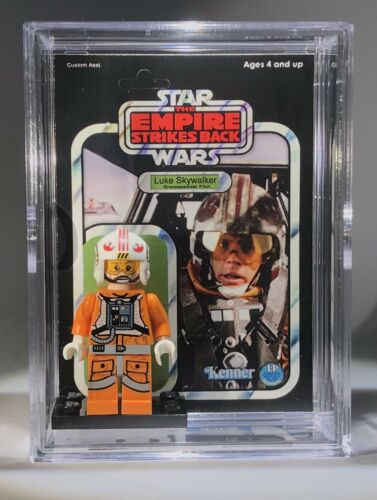 Star Wars Luke Skywalker ESB Custom Mini Action Figure wCase /& Stand Minifig