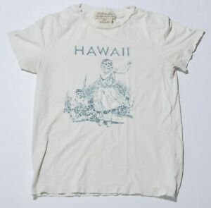 Men-039-s-THE-GOLDEN-STATE-REMI-RELIEF-White-T-Shirt-Hawaii-Short-Sleeve-Size-XS