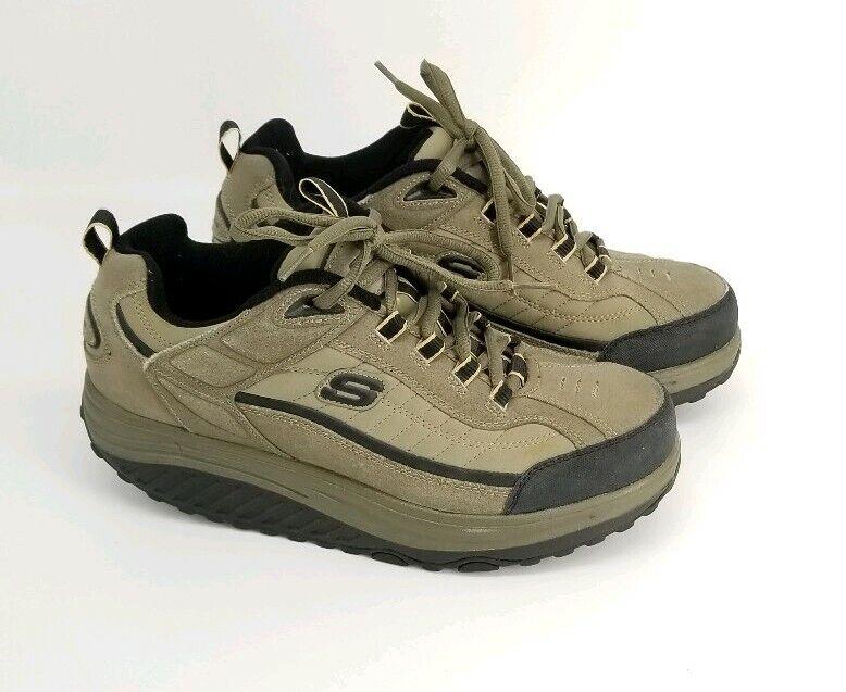 Skechers Shape Ups Mens PBL Suede Toning Walking shoes Size 9.5 50875
