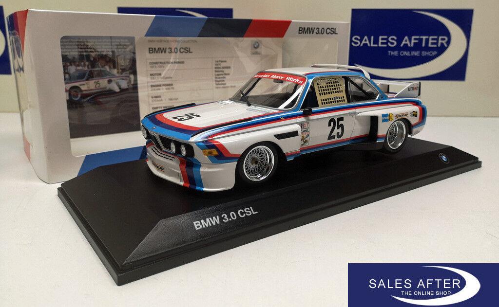Original BMW Miniature 3.0 CSL  25 Heritage Racing Collection 1 18 modèle de collection