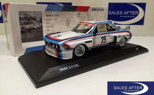 Original bmw miniatura 3.0 CSL #25 Heritage racing Collection 1:18 modelo de coleccionista