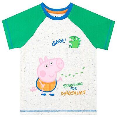 Boys Girls Peppa Pig George T-shirt t shirt Kids Cotton Top Tee Age 3-8 Years