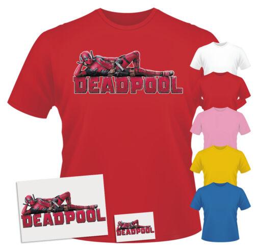 Autocollant /& aimant de réfrigérateur Combo Deadpool Laying Kids T-shirt