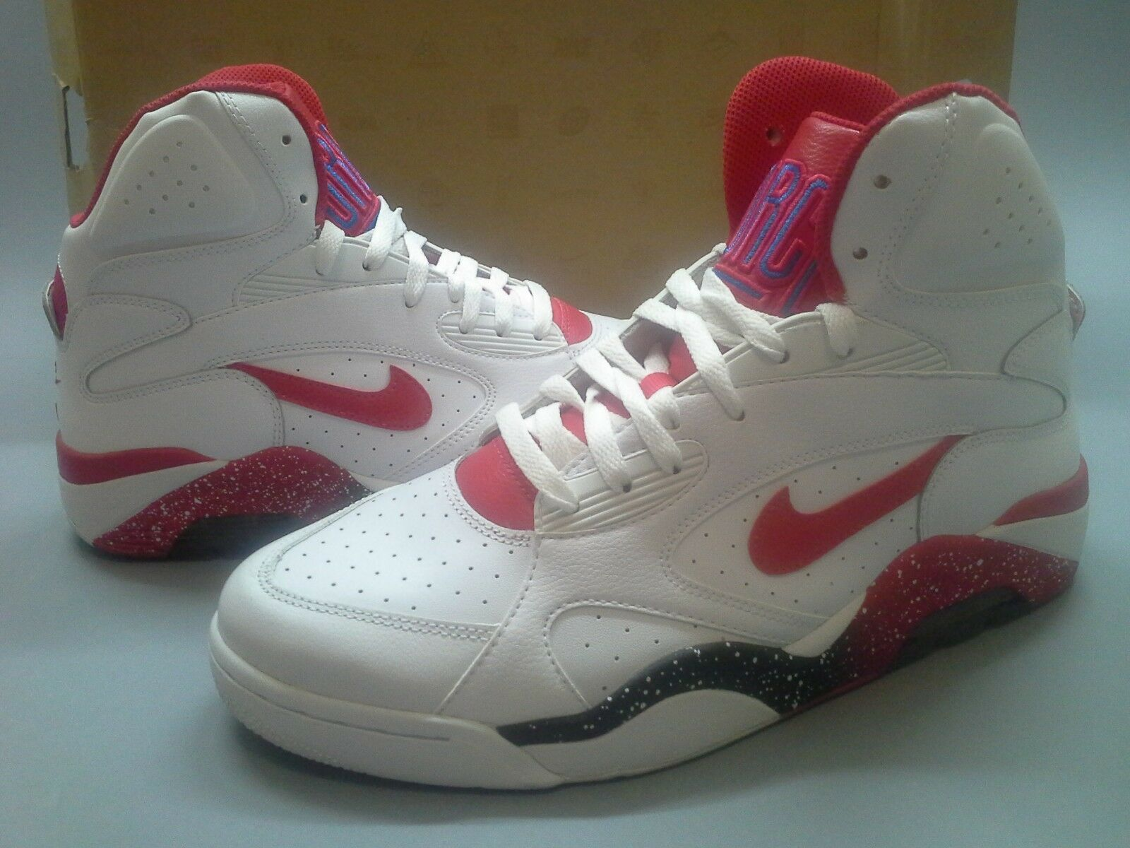 Nike Air Force 180 Mid White Red 537330 101 Barkley Bulls Robinson One Casual wild